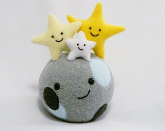 Plush moon and stars toy
