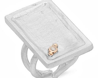 Tag Ring in 14k Gold & Silver
