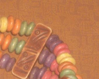 Vintage Tibetan Yak bone CANDY color BRACELET