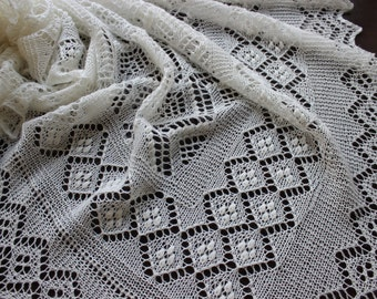 Lace baby blanket, hand knitted christening heirloom baby shawl, newborn photo prop, Estonian lace, Royal Baby Shawl,  baby shower gift
