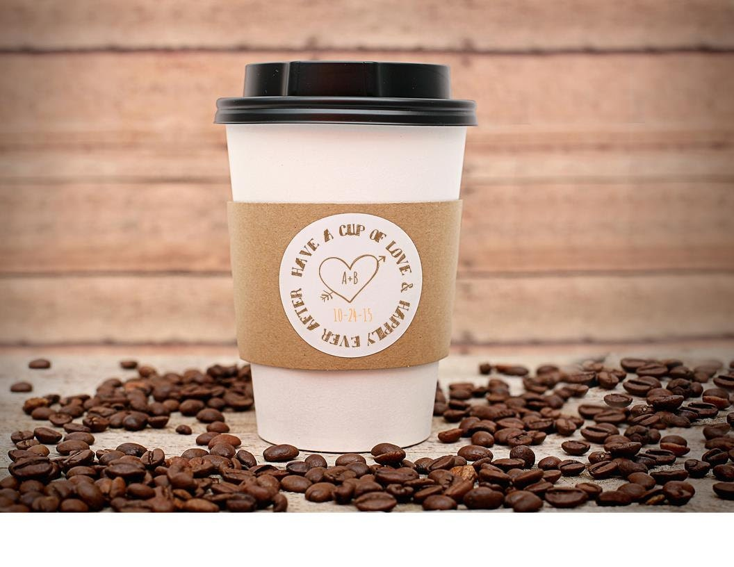 Custom printed coffee cup sleeves hot cocoa by detailsondemand