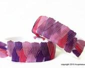 Acupressure Anti Nausea Bracelets for nausea, motion sickness, travel illnesses, anxiety. Adjustable. Blush
