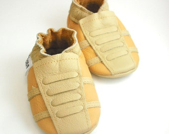 soft sole baby shoes leather infant sport yellow beige 6 12 ebooba SP-10-Y-T-2