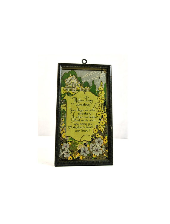 Items Similar To Rustic Mother 39 S Day Poem In Metal Frame