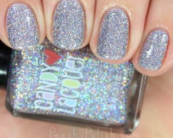 Winter Fairy Floss - handmade holographic micro glitter nail polish