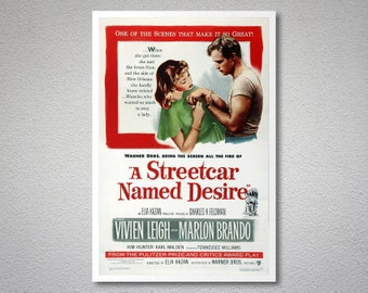 A Streetcar Named Desire  Movie Poster - Poster Paper, Sticker and Canvas Print