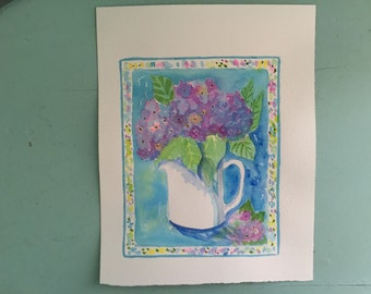 hydrangea~original watercolor