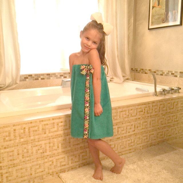 Childs Towel Wrap Toddler Towel Wrap Child Bath Wrap
