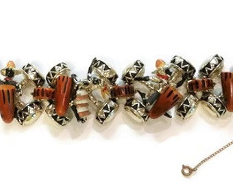 Vintage Charles Frederick Worth Blackamoor Tribal Bracelet