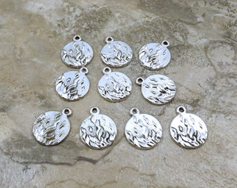 Set of 10 Pewter Fire Charms (4 Elements) -  0019