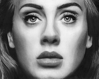Adele Portrait Sketch Limited Edition Print