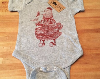 FREE SHIPPING -- Philadelphia Phanatic -- Paul Carpenter Art -- Baby Onesie