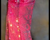 pants clear sequins black/red python print straight leg NEW YEARS dressy casual disco animal print red black size 4/6 low waist front fly