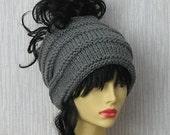 Dreadlock accessories Knit dreadband, Mens dreadlocks tube hat, Winter Hat, wide knitted hair wrap, Charcoal , winter accessories