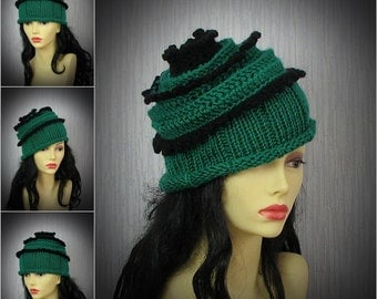 Hand Knitted Hat for Womens Slouchy Beanie Perfect Accessory for her Unique Hat