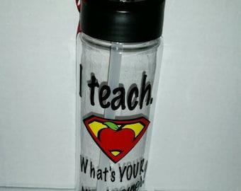 Teacher Gifts -Teacher Water Bottle - Personalized Teacher Gift - Personalized Water Bottles - FREE Personalization - Teacher Appreciation