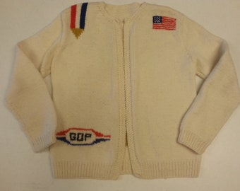Handmade Political Sweater GOP Republican Party