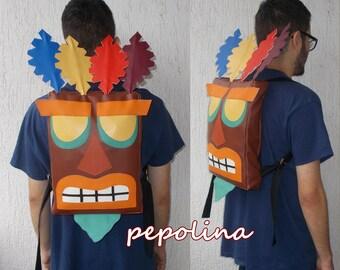 Aku Aku Mask Backpack Crash Bandicoot