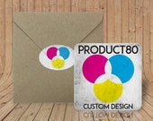 Custom Coasters - Optional Craft paper envelopes & matching sealing stickers - Birthday - Engagement - Rehearsal - Wedding - Save the Date