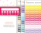 WEEKLY Habit Tracker Printable Planner Stickers Erin Condren Happy Planner Inkwell Plum Paper Instant Digital Download