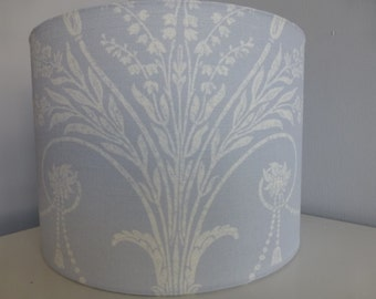 Laura Ashley Seaspray (Blue Grey) or Duck Egg Josette (Country French Design) Fabric Drum Lampshades - 20cm and 30cm diameter