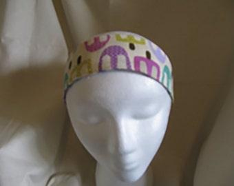 Pink and Teal Lollipop Reversible Headband