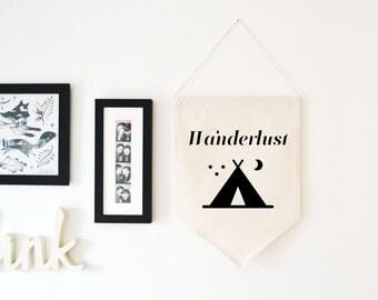 Wanderlust Vinyl Wall Hanging Banner