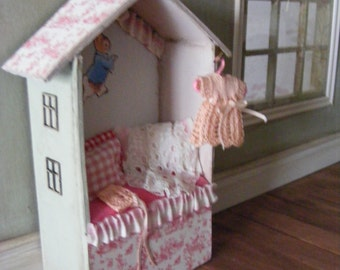 Sweet little dolls house shaped nursery seat