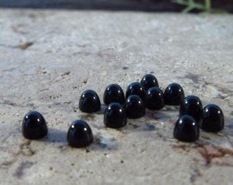 Onyx Bullet Cabochon 3mm Round 3pcs - Gemstone Cabochon, Black Gemstone, Onyx Gemstone, Bullet Cabochon, 3mm Round Cabochon, Gemstone