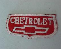 1940-1950s Vintage CHEVROLET BOWTIE Automobile Dealer Patch New Old Stock Nice Condition Rare Old Dealership Service Uniform
