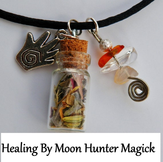 Healing Amulet Charm Bottle Necklace 20+ yrs exp