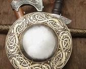"DISCOUNTED PRICE! Medieval Viking Boss Shield ""Dragon""; Decorative Shield; Viking Shield"