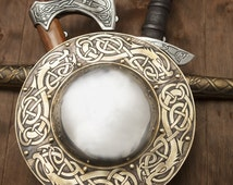"Medieval Viking Boss Shield ""Dragon""; Decorative Shield; Viking Shield"