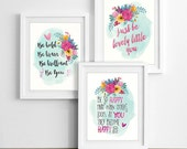 SET OF 3  Lovelies for Girls-8x10's