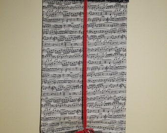 Classroom Door Safety Curtain--Sheet Music with Black Floral SALE!