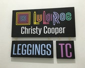 LuLaRoe sign photo prop full set using approved colors and fonts