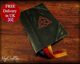 Book of Shadows - Charmed replica with ORIGINAL parchment pages - MEDIUM size 8,66x6,29 inch