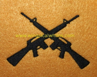 Guns Digitized Machine Embroidery