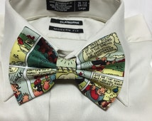 Vintage Popeye and Olive Oil Comic strip 60s 70s retro Bow tie or Hair Bow