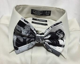 Vintage black and white Comic panel Print Bowtie / Bow Tie