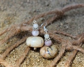 African Opal earrings, African White Opal earrings, Beige earrings, Tan earrings, Drop earrings, Dangle earrings,  Summer trend, Fall trend,