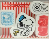 Snoopy Post Craft Stamp Set Rubber Stamp Set (2296-006) Price depends on order volume. Buy other items together for BETTER price.
