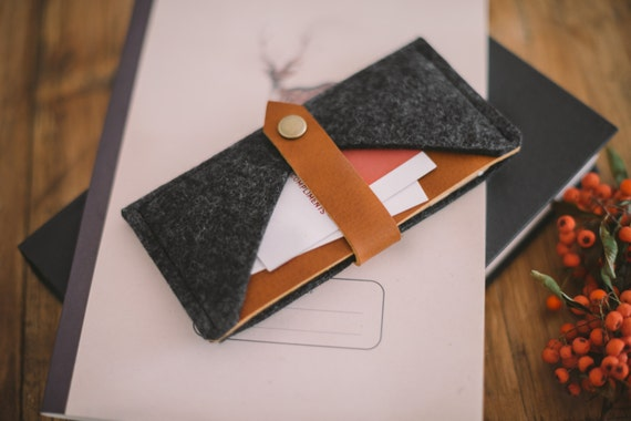 """iPhone 7 Case, iPhone 7 Wallet, iPhone 7 Sleeve, leather, wool felt, """"Rough Edge"""""""
