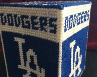 Dodgers tissue box holder