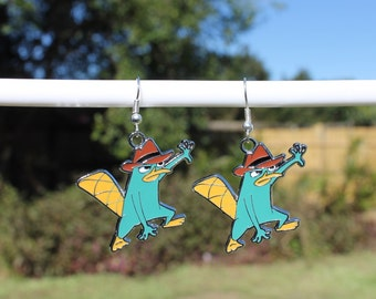 Perry The Platypus Earrings