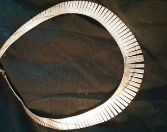 Awesome 80s Sterling Silver 925 choker Necklace
