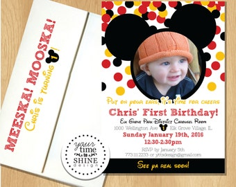 Mickey Mouse Birthday Invitations - with picture