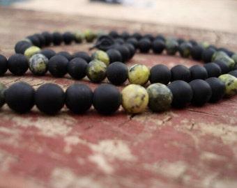 Mens Black Beaded Necklace, Mens Beaded Necklace, Mens Onyx Necklace, Mens Black Necklace, Mens Necklace, Women's Necklace, Beaded Jewelry
