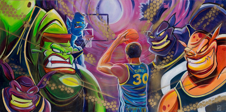 Stephen Curry podría acompañar a LeBron James en Space Jam 2