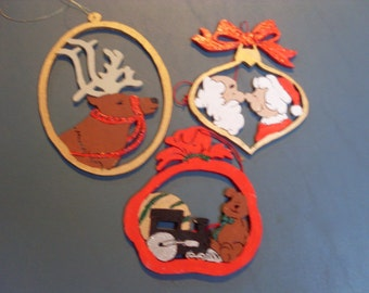 Christmas Ornaments - Reindeer, Santa, and Presents